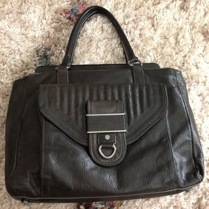 Black Leather Rebecca Minkoff handbag